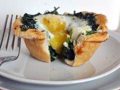 egg and spinach cups