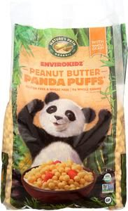 Panda Puffs Cereal Gluten-free cornmeal puffs with the peanut butter flavor. Puffs Cereal, Gluten Free Cereal, Organic Peanut Butter, Panda, General Store, Bees, Products, Honey Bees, Pandas