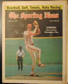 Steve Carlton The Sporting News from 1977 Philadelphia Phillies Baseball Phillies Baseball, Sports Baseball, Sports Teams, Baseball Cards, Philadelphia Sports, Sports Magazine, Husband Love, Magazine Covers, Fan