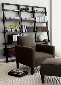 Decorating with Leaning Ladder Shelves Leaning Shelves are