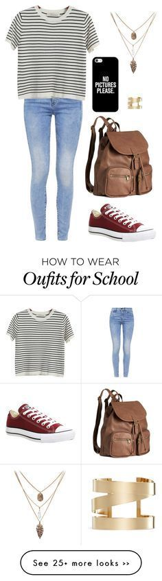 """""""Lookbook   School1"""" by i-enjoy-stuff on Polyvore featuring G-Star, Chicnova Fashion, Converse, H&M, Casetify and Isabel Marant"""
