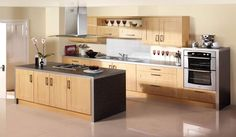 An easy-maintenance beech effect kitchen in the traditional shaker style. Palermo has all the grains of wood effect with the wipe-clean, colourfast practicality of vinyl-wrapped doors. We even guarantee it for 25 years. #kitchens #shakerkitchens #woodkitchens  http://www.tescokitchens.com/kitchen-collections/palermo-kitchen.html