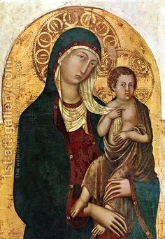 Nicolò di Segna - Madonna col Bambino.