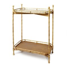 two tiered gold side table via my opensky collection, $199