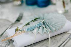 #Namensschilder zur #Hochzeit ❤️ DIY Fächer