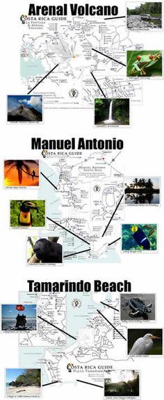 Arenal, Moteverde and Tamarindo