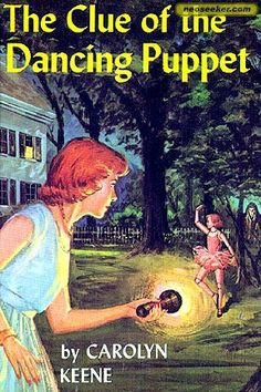 Google Image Result for http://i.neoseeker.com/boxshots/Qm9va3MvTXlzdGVyeQ%3D%3D/nancy_drew_39_the_clue_of_the_dancing_puppet_frontcover_large_q5AtXxDjfrC7LoN.jpg All Nancy drew books are amazing but i loved this one