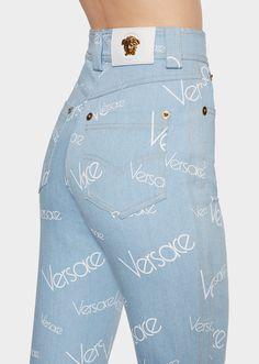 Versace Vaqueros altos Vintage Logomania para Mujer  300289e3ef9