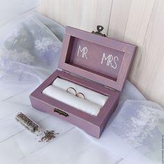 Купить Шкатулка для колец.Лавандовая свадьба. - шкатулка для колец, подушечка для колец, свадьба
