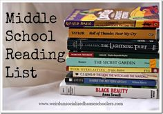 Middle School Reading List Why just Megan, you may ask. Because Josh is already in 8th grade, s
