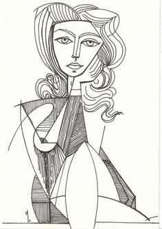 Atemberaubendes Picasso Museum – DIY Kunstprojekte – … – A… – Keep up with the times. Kunst Picasso, Picasso Art, Picasso Paintings, Picasso Tattoo, Matisse Paintings, Picasso Style, Portrait Sketches, Drawing Portraits, Picasso Sketches