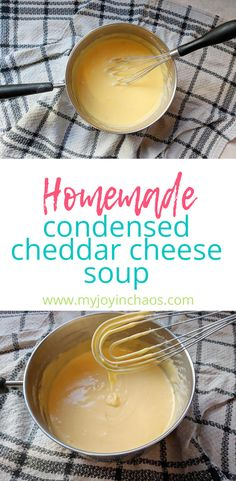 Homemade Condensed Cheddar Cheese Soup Substitute Never use a can of condensed cheese soup again! This easy homemade cheddar soup is the perfect replacement for canned cheese soup. Cheese Soup Recipe Easy, Homemade Nacho Cheese Sauce, Cheddar Soup Recipe, Cheddar Cheese Recipes, Homemade Nachos, Homemade Soup, Real Food Recipes, Soup Recipes, Cheap Recipes