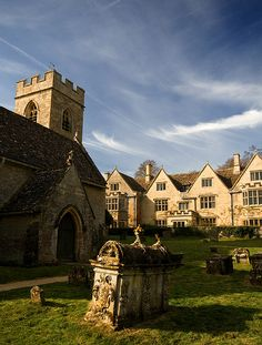 Asthall Village in The Windrush Valley, Oxfordshire