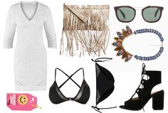 """Wow, today it's time for the beach! And with this outfit you will look very stylish! 