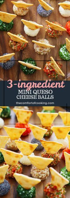 3-Ingredient Mini Queso Cheese Balls – The Comfort of Cooking