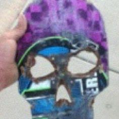 Art made from a broken skateboard