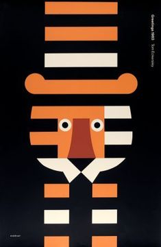 (will make a cute quilt!)Tom Eckersley (1914-1997) was an English poster artist known for his use of bold, bright colors and simple block shapes. During WWII he was a cartographer for the Royal Air Force and created designs for the General Post Office. In 1948 he was awarded the Order of the British Empire for his services to poster design.