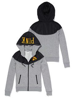 University of Iowa Colorblock Zip Hoodie