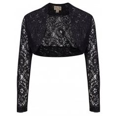 Bridal Shrug | Shrug Black Lace | Vintage Inspired Fashion - Lindy Bop