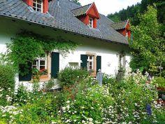 Small Cottage House Plans, Small Cottage Homes, Dormer Windows, House Windows, German Houses, Gazebo, Pergola, Rain Garden, Enjoy The Sunshine