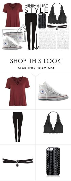 """""""Minimalist Style"""" by majestic-flame on Polyvore featuring Topshop, Converse, Oris, Humble Chic, Fallon and Savannah Hayes"""