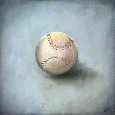 Toy Baseball Canvas Art