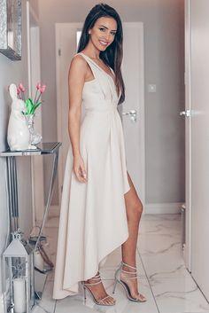DAFNE kremowa sukienka Illuminate