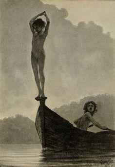 "carga-de-agua: "" Fidus (Hugo Reinhold Karl Johann Höppener, (1868-1948) – Schwule, 1896. German artist. """