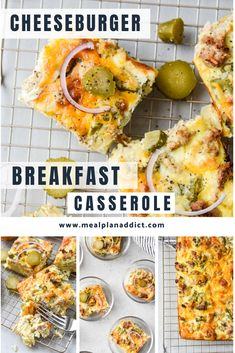 Healthy cheeseburger breakfast casserole is all the key flavors of a cheeseburger, but lightened up a bit and loaded with pickles! Pickle lovers unite as now we can enjoy pickles for breakfast now too!