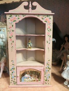 Dollhouse Miniature Artisan Karen Markland Hand Painted Cnossen Corner  Cupboard | EBay Miniature Dollhouse Furniture,