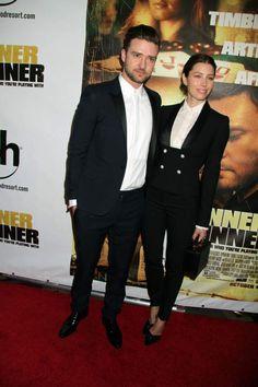Justin Timberlake & Jessica Biel at the Runner Runner Premiere