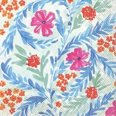 IHR Rosanne Beck Spring Rain Floral Printed 3-Ply Paper Luncheon Napkins Wholesale L707900