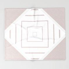 Sqaurecentric - Warm Greys Throw Blanket