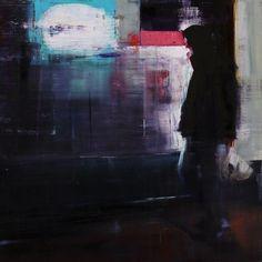 © Brett Amory, Waiting#193, huile sur bois, 51x51 cm, 2013