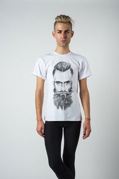 The Beard @bypoststreet t-shirt featuring the limited edition print of model Rick Hall drawn by  http://by-post-street.myshopify.com/collections/collection-3/the-beard $85.00