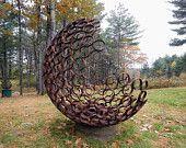 Nearly Sphere - fine art photography, metal, sculpture, garden art, nonteamchallenge 93, 8x10