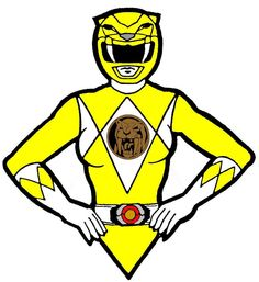 Power Ranger yellow great picture for a cake topper!