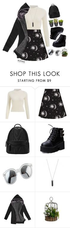 """""""#ROMWE"""" by credentovideos ❤ liked on Polyvore featuring Motel, Karen Kane, women's clothing, women's fashion, women, female, woman, misses and juniors"""