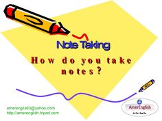 how to take notes for reading and writing.
