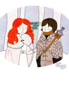 You Know Nothing Jon Snow - 8 x 10 Illustration Print. $16.00, via Etsy.
