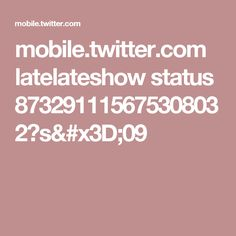 mobile.twitter.com latelateshow status 873291115675308032?s=09