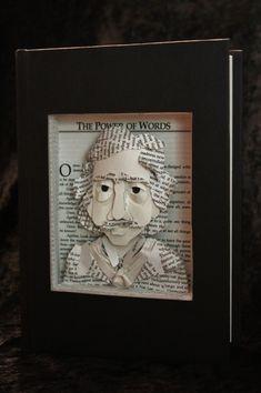 Edgar Allan Poe. Des sculptures de livres déchirés par Jodi Harvey Brown  2Tout2Rien +