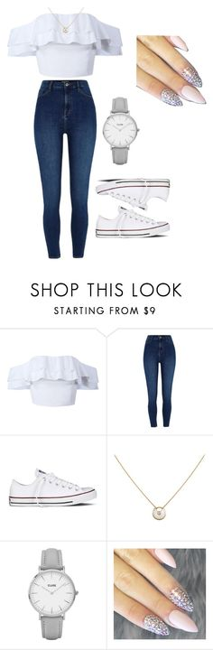 """""""Outfit Of The Day"""" by lilbabyleea on Polyvore featuring River Island, Converse, Cartier and CLUSE"""