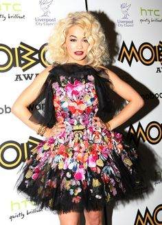 floral embroidered tulle dresses | floral embroidered tulle dress to the 2012 MOBO