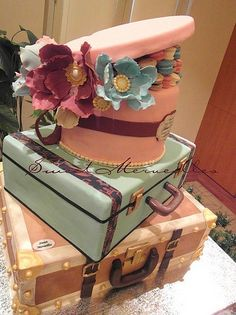 Sweet About Suitcase and Hat box.