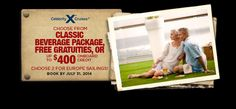 Celebrity Cruises - this fantastic offer will sail away on July 31!  Book now!  #CruisePlanners