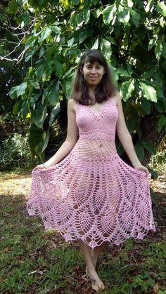 Ravelry: Fairy Dress pattern by Earth Tricks Crochet Woman, Crochet Lace, Sombrero A Crochet, Fashion Beauty, Girl Fashion, Pineapple Crochet, Fairy Dress, Culottes, Beauty Full Girl