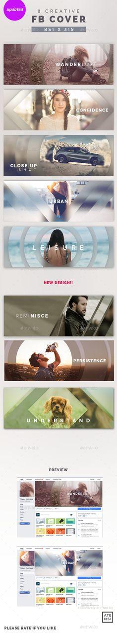 Creative Facebook Cover Templates PSD