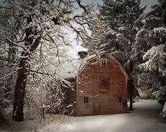 Barn in Winter  by James Jordan