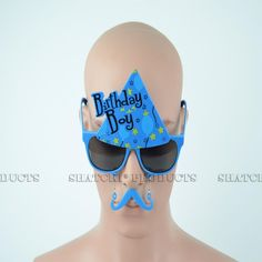 """Novelty """"Birthday Boy"""" glasses with added moustache. Boys Glasses, Novelty Sunglasses, Blue Birthday, Party Accessories, Boy Blue, Moustache, Some Fun, Fancy Dress, Beauty"""